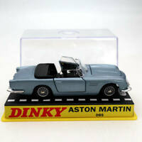 1:43 Atlas Dinky toys 110 Aston Martin Blue Diecast Models car Collection