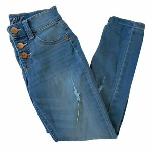 Justice Girl's Size 7 High Rise Jegging Button Fly Jeans