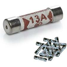 UKDJ 13a Fuse * Pack of 25 fuses * For Plug Top Household Mains 13amp Cartridge