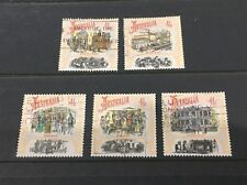 Australian 1990 Boom Time set of 5 Square Sheet stamps used