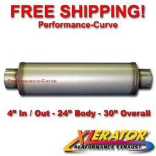 "Xlerator 4"" Stainless Steel Performance Hi-Flow Diesel Muffler 24"" Body - XS2772"