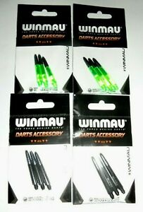 Winmau Vecta Shafts Green or Black - Available in short & medium lengths