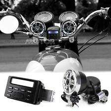 12V MOTORCYCLE ATV Bike MARINE GO CART IPOD RADIO AUDIO SOUND SYSTEM 2 SPEAKERS