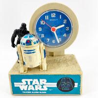 Vintage 1980 Star Wars Darth Vader & R2D2 Bradley Time Div. Alarm Clock