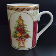 Royal Albert Holiday Mug Tree Topiary Seasons Of Colour Red Cranberry Never Used