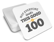 100th Birthday Happy Gift Present Idea Women Men Female Keepsake Coaster