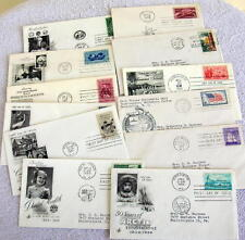 Lot of 12  First Day Cover Stamp Variety Of Topic Lincoln 1959-1960  Lot # F