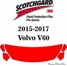 3M Scotchgard Paint Protection Film Pro Series Clear 2015 2016 2017 Volvo V60