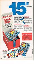 PUBLICITE ADVERTISING 064  1970  PLASTICANT   jeux jouets  LE TEST-BOX