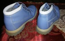 TIMBERLAND LIGHT BLUE  WOMEN'S LEATHER WATERPROOF BOOTS  SIZE 7.5 M 27359