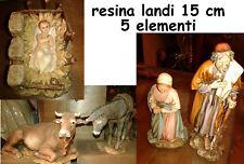 5 Pastori nativita' maria gesu resina landi 15 cm PRESEPE shereped crib gia 210