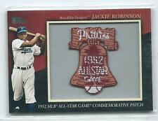 2010 Topps Jackie Robinson Commemorative 1952 All-Star Patch Relic HOF DODGERS
