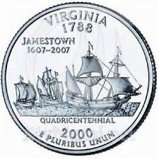 2000 - VIRGINA State Quarter / Philadelphia Mint / BRILLIANT UNCIRCULATED