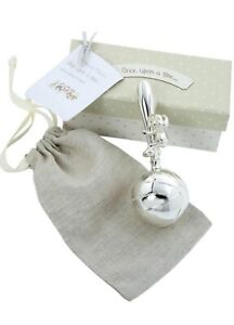 Mamas & Papas - Silver Plated Rattle - Baby Christening Gift - Newborn Baby Gift