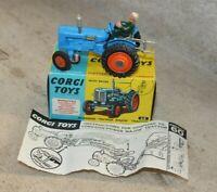 Corgi 60 fordson power major tracteur avec notice et boite