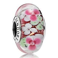 PANDORA Charm Murano Element 791652 Blumen Flowers Silber Beads