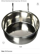 Ethical Stainless Steel Coop Cup, 30-Ounce Hook On Box For Crates Dog Cat Birds