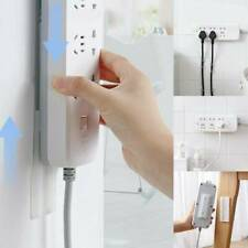 Seamless Punch-free Magic Plug Strip Fix Sticker Holder Power Strip Sticky Rack@