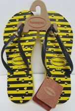 NWT Havaianas Size 6 Flip Flops Slippers Bumble Bee RARE Authentic New