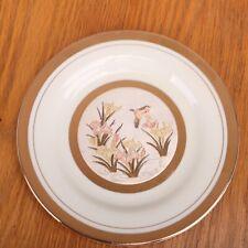 Japanese Chokin Porcelain Plate Flowers