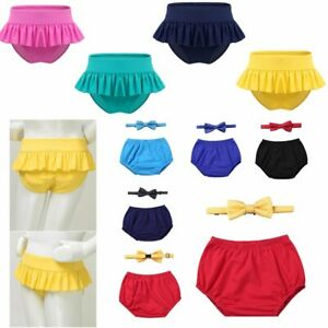 Baby Boys Birthday Party Bloomers Diaper Cover Girls Rash Guard Swimming Bottoms