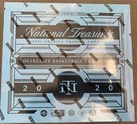 panini national treasures collegiate basketball hobby box 2020 - unopened box!