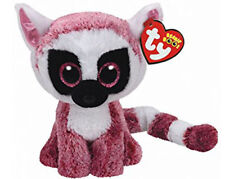 "Ty Beanie Boos 6"" Leeann the Lemur Stuffed Animal Plush NWMT's New w/ Heart Tags"