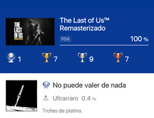 The Last Of Us Remastered + (All DLC) PS4  Platinum Trophy Service