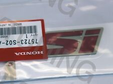 "New OEM Honda 99-00 Civic B16A2 DOHC VTEC EM1 Red ""Si"" Trunk Emblem Decal Badge"