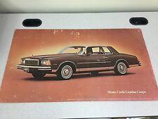 Scarce 1979 Chevy Chevrolet Monte Carlo Landau Coupe Dealer Print  -  32x18