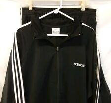 Adidas Originals Tracksuit Poly Cotton Blend Black White Training XL - 90s