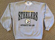 Vintage Mens L 1995 Pittsburgh Steelers NFL Football Gray Sweatshirt Large