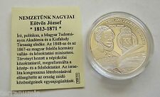 """s004 Hungary """"THE NATION'S GREATS"""" EOTVOS JOZSEF SILVER MEDAL BU"""