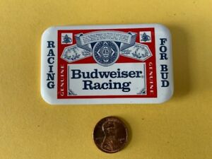 MISS BUDWEISER RACING FOR BUD SEATTLE SEAFAIR HYDROPLANE BUTTON  HYDRO RACE PIN