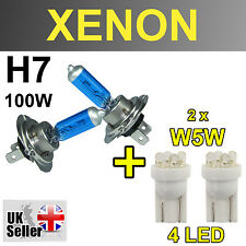 H7 100W XENON SUPER WHITE LIGHT BULBS W5W 4 LED HEADLIGHT JEEP RANGE ROVER SPORT