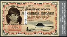 More details for greenland stamps 2021 mnh old greenlandic banknotes part v numismatics 1v m/s
