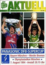 DFB-SUPERCUP 07.08.1994 FC Bayern München - SV Werder Bremen