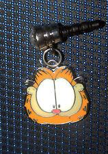 Garfield Sassy Cat phone charm plug anti-dust 3.5mm iphone 4 4s smart Phone