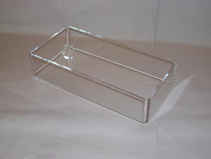 crystal clear acrylic accessory tray