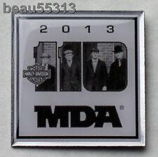 HARLEY DAVIDSON 2013 110th ANNIVERSARY MDA HOG RALLY FOUNDERS VEST HAT PIN