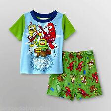 YO Gabba Gabba Pajamas Set NeW 2 piece Boy's 4T Pjs Shirt Shorts Nickelodeon NwT