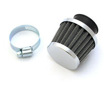 ☆ High Flow Chrome Air Filter Pod • 35mm Clamp-On • Honda CB160 CB350F CB400F ☆