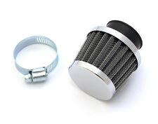☆ High Flow Chrome Air Filter Pod • 35mm Clamp-On • Honda CB160 CB350F CB400F ☆