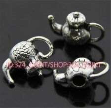 P310 15pc Tibetan Silver teapot Charm Beads Pendant accessories wholesale