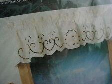 Home Curtain White Cutwork Embroidered Valance Kitchen