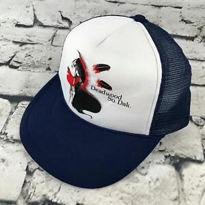 Deadwood So. Dakota Boys Snapback Hat Navy Blue Trucker Style Baseball Cap
