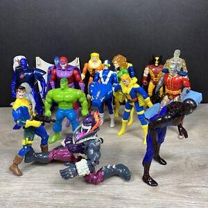 Marvel vintage 1990s Action Figures- lot of 17 ToyBiz Superhero Villains X-Men