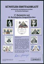 BRD KÜNSTLER-ETB 1987/11 MARIANISCHER KONGREß KÜNSTLER-ERSTTAGSBLATT LTD.