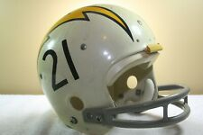 Vtg Kelley GAME STYLE Authentic Display Football Helmet San Diego Chargers #21