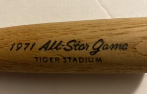 Vintage 1971 MLB All Star Game Souvenir Mini Bat Tiger Stadium Detroit Tigers